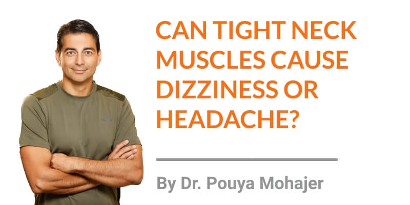 can tight neck muscles cause dizziness