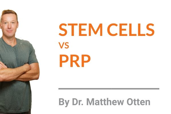 "Stem Cell Therapy vs. Platelet-Rich-Plasma Therapy ""PRP"""